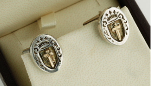 Crown Sword Cuff Links