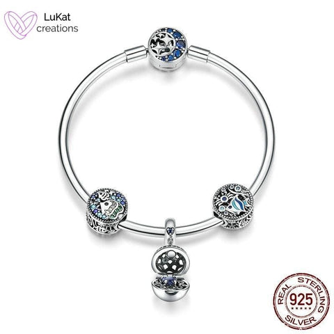 LuKat Blue Sea World Charm Bracelet Set