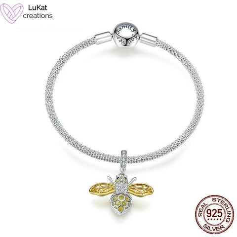 LuKat Golden Bee Charm Bracelet Set