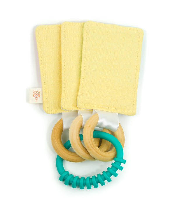 Color Swatch Baby Teether & Crinkle Toy - classic