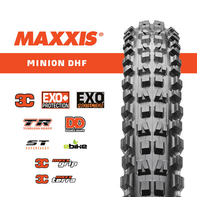 Maxxis 27.5 X 2.50 Wt Minion Dhf 3C/Exo+/Tr Foldable