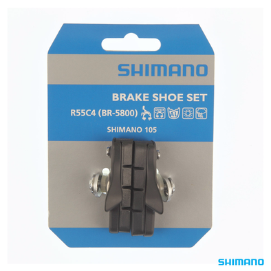 Shimano BR-R7000 BR-5800 Brake Shoe Set R55C4 Cartridge Black 1 Pair