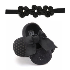 Bowknot Fashion Shoes+ Hairband