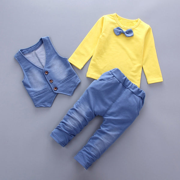 Denim Gentleman Clothes Set