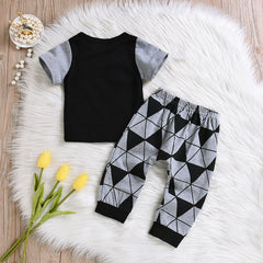 Letter Print Outfits Set