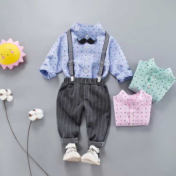 3 Pcs Outfits Trouser Set
