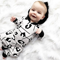 Print Hooded Jumpsuit