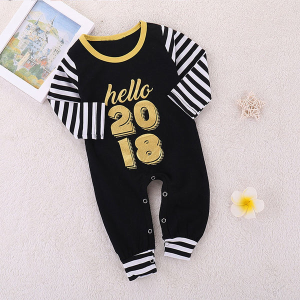 Letter Stripes Print Jumpsuit