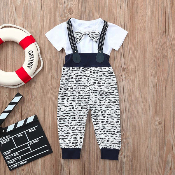 Summer Shirt+Overall Pants Set