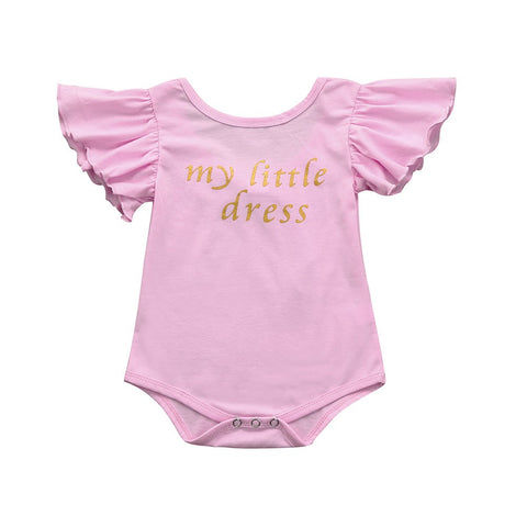Letter Ruffles Baby Jumpsuit