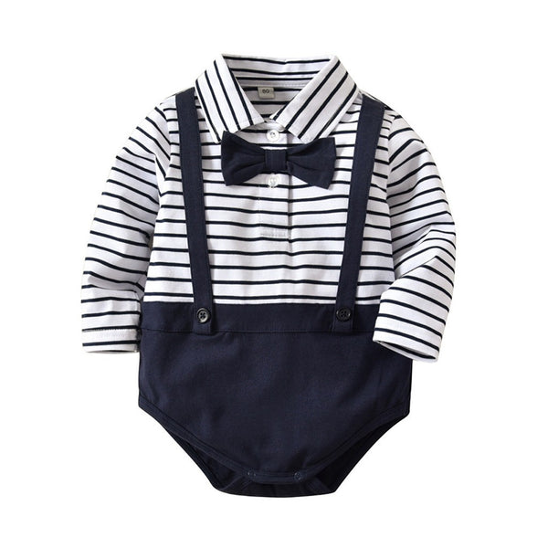 Navy Striped Outfit Set