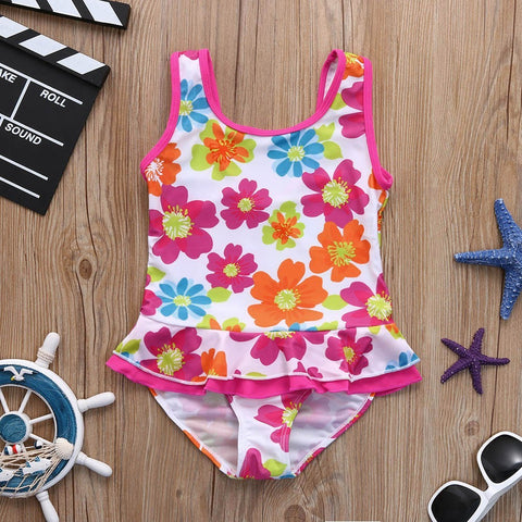 Flower Print One Piece Swimsuit
