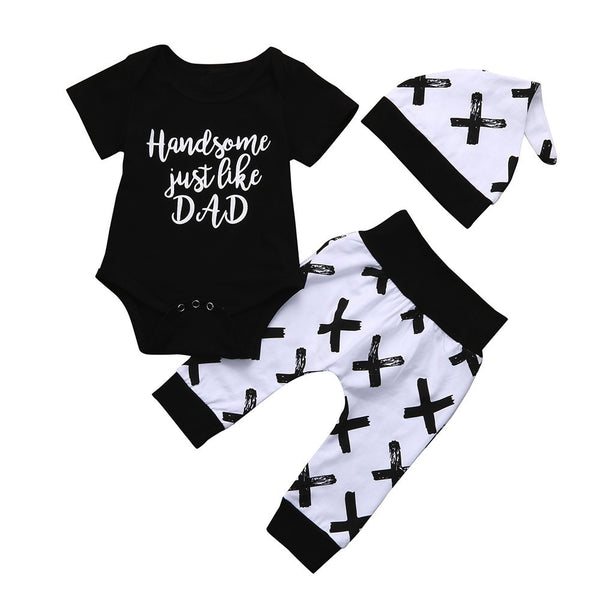 Short Sleeve Letter Print Outfits Set
