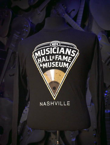 Musicians Hall of Fame Long Sleeve T-Shirt - Pick Logo