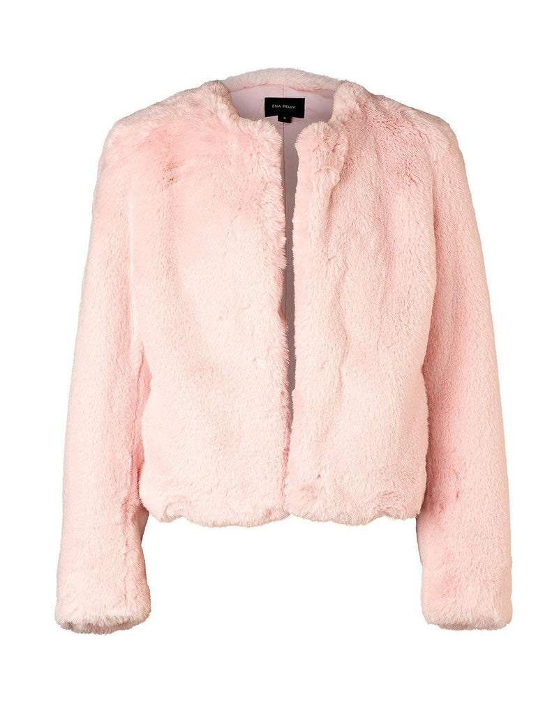 Essential Cropped Faux Fur Jacket