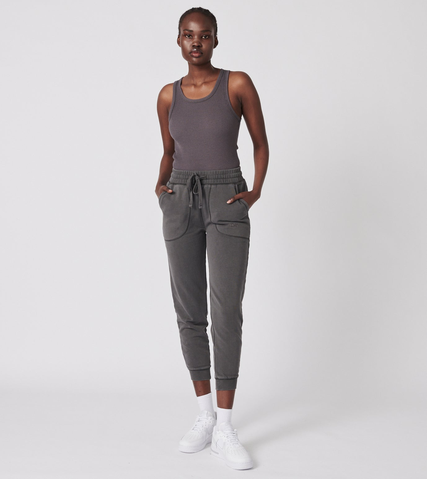 Ena Track Pant - Snow Wash