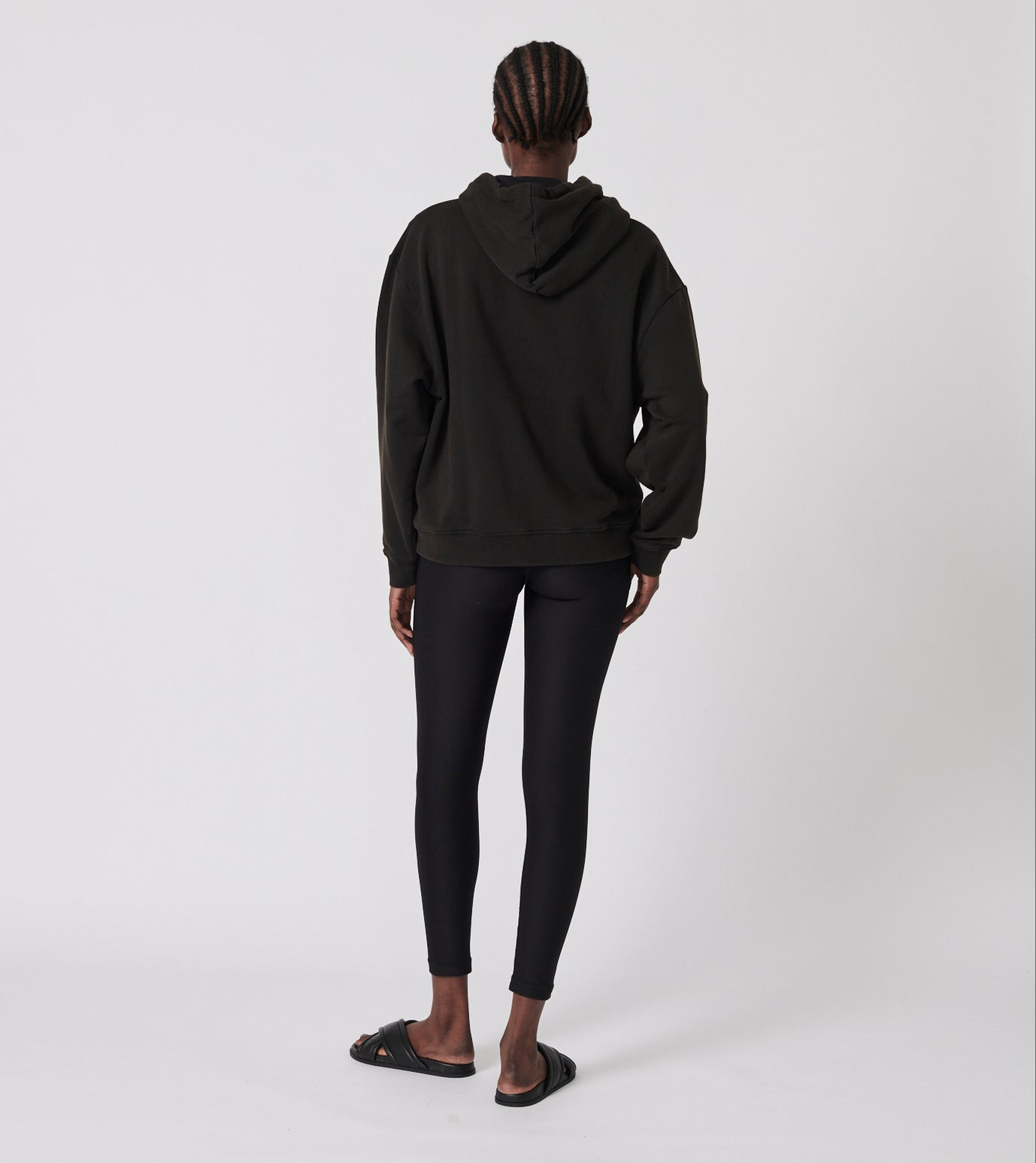 Snake Rose Hoodie - Washed Black