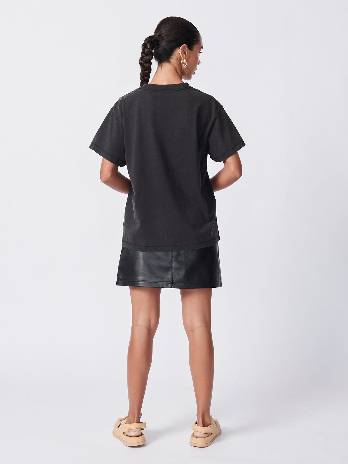 Snake Eyes Tee - Washed Black