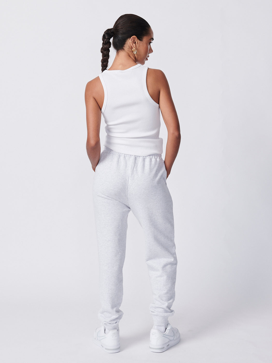 Essential Track Pant - White Marle