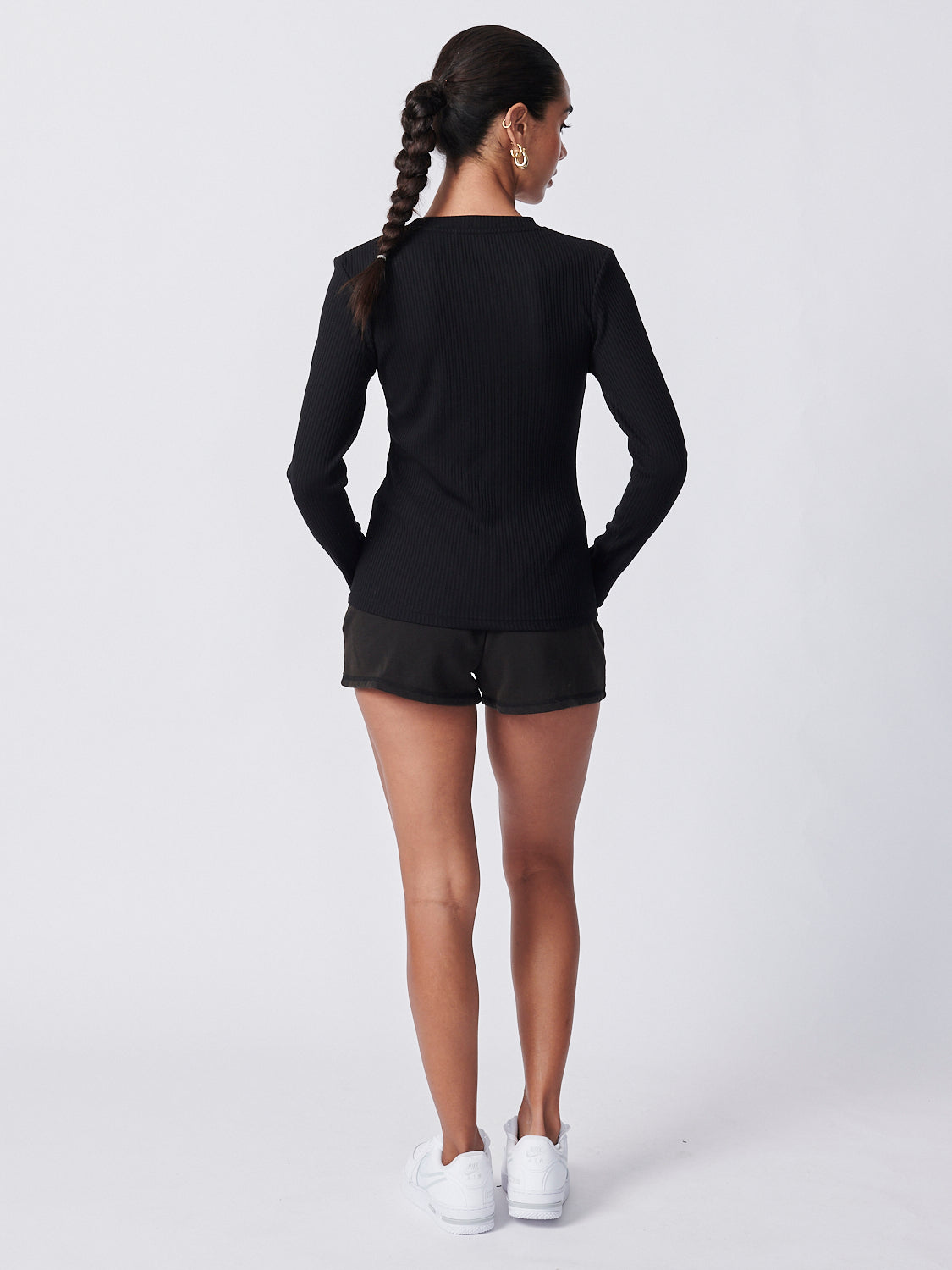 Billie Long Sleeve Top - Black