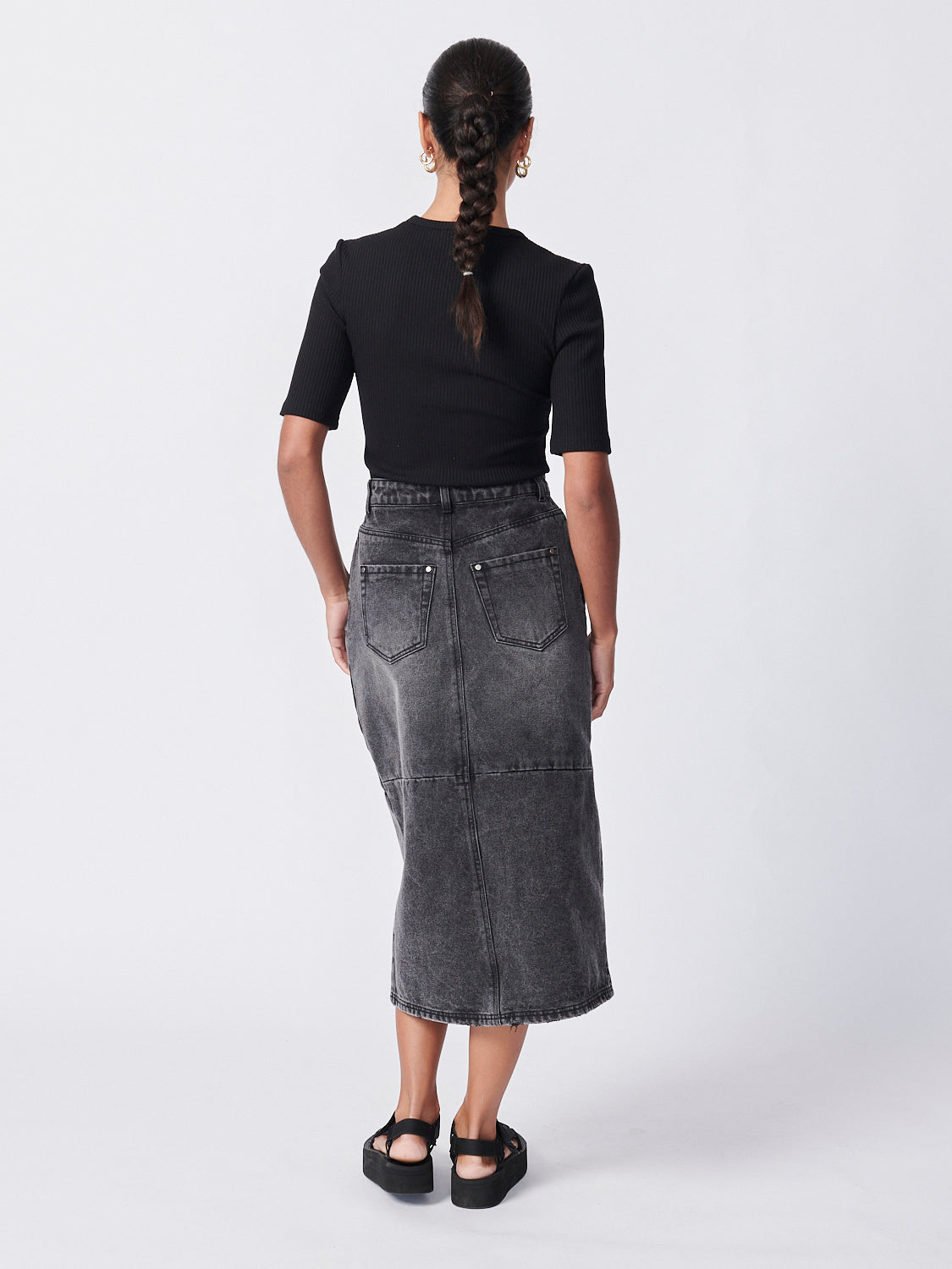 Pippa Denim Skirt - Stone Wash