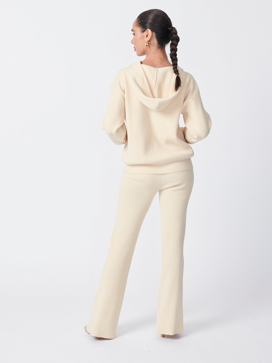 Flare Knit Pants - Snow
