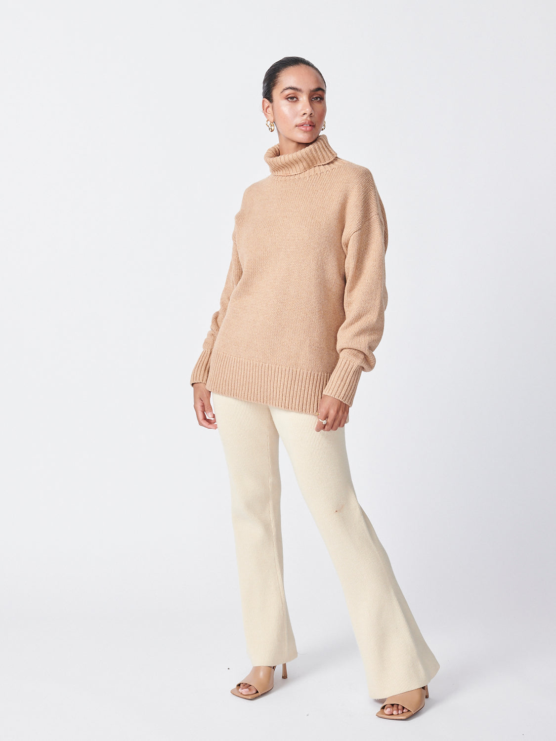 Roll Neck Knit - Camel