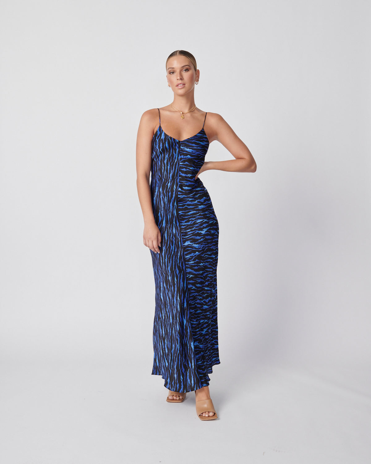 Clare Slip Dress - Dazzling Blue
