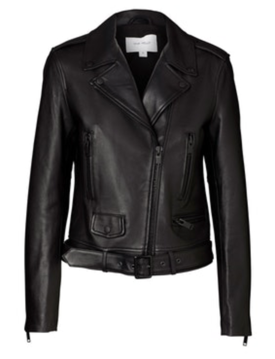 New Yorker Biker Jacket - Black/Black