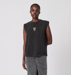 Small Logo Tank - Washed Black