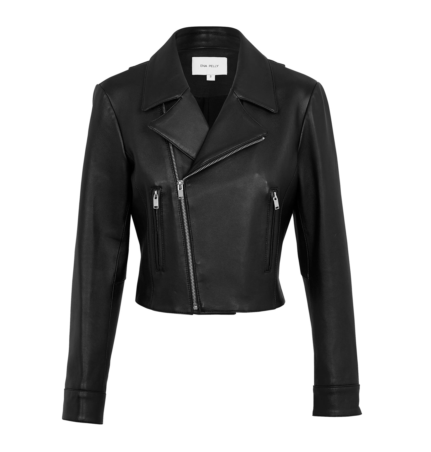 Cropped Jacket - Black/Silver