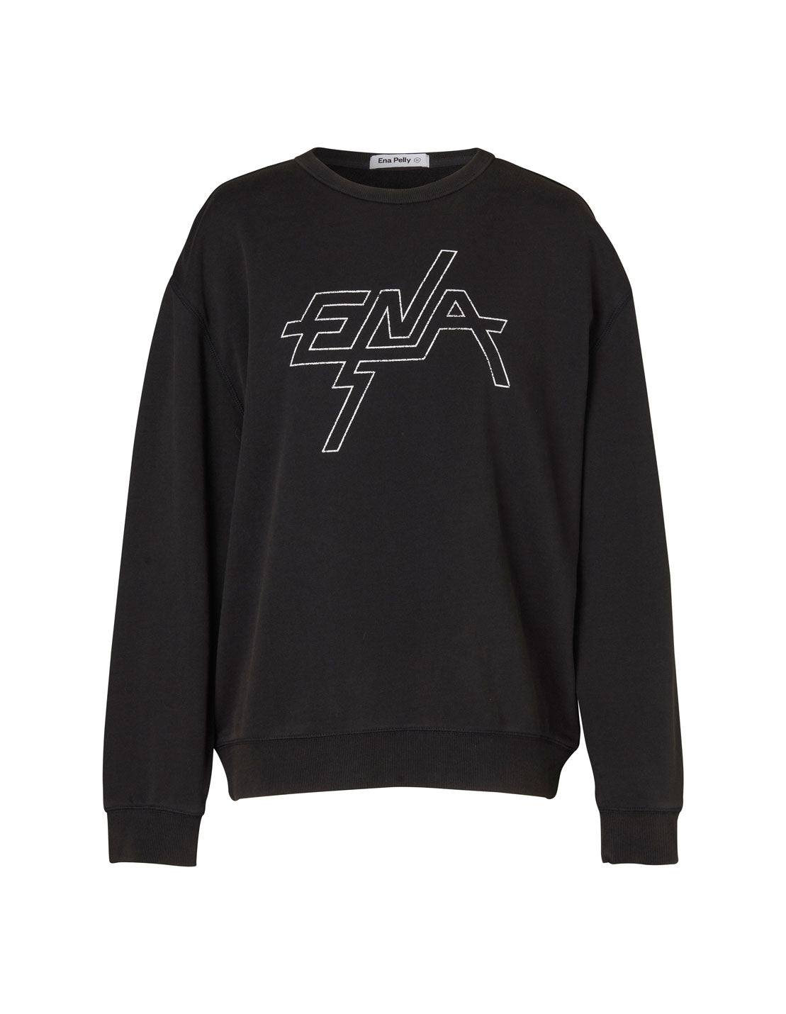 Block Logo Sweatshirt - Washed Black