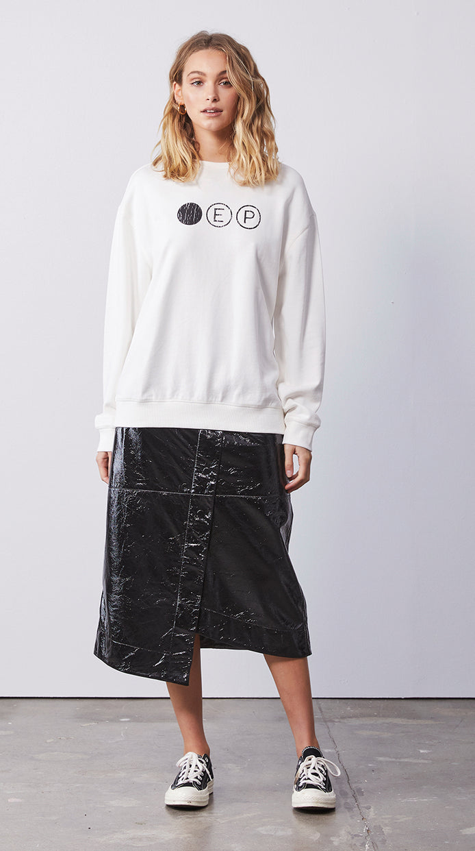 Dot Logo Sweatshirt - White