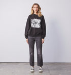 Girl Sweatshirt - Washed Black