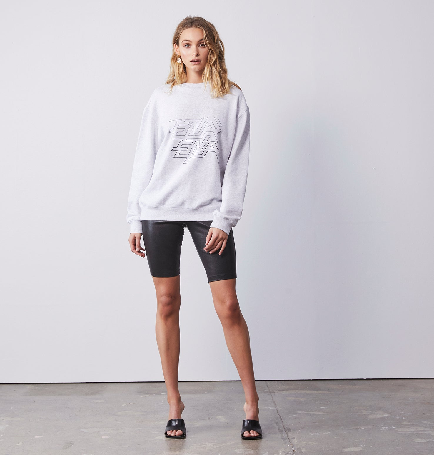 Ride The Lightening Sweat - White Marle