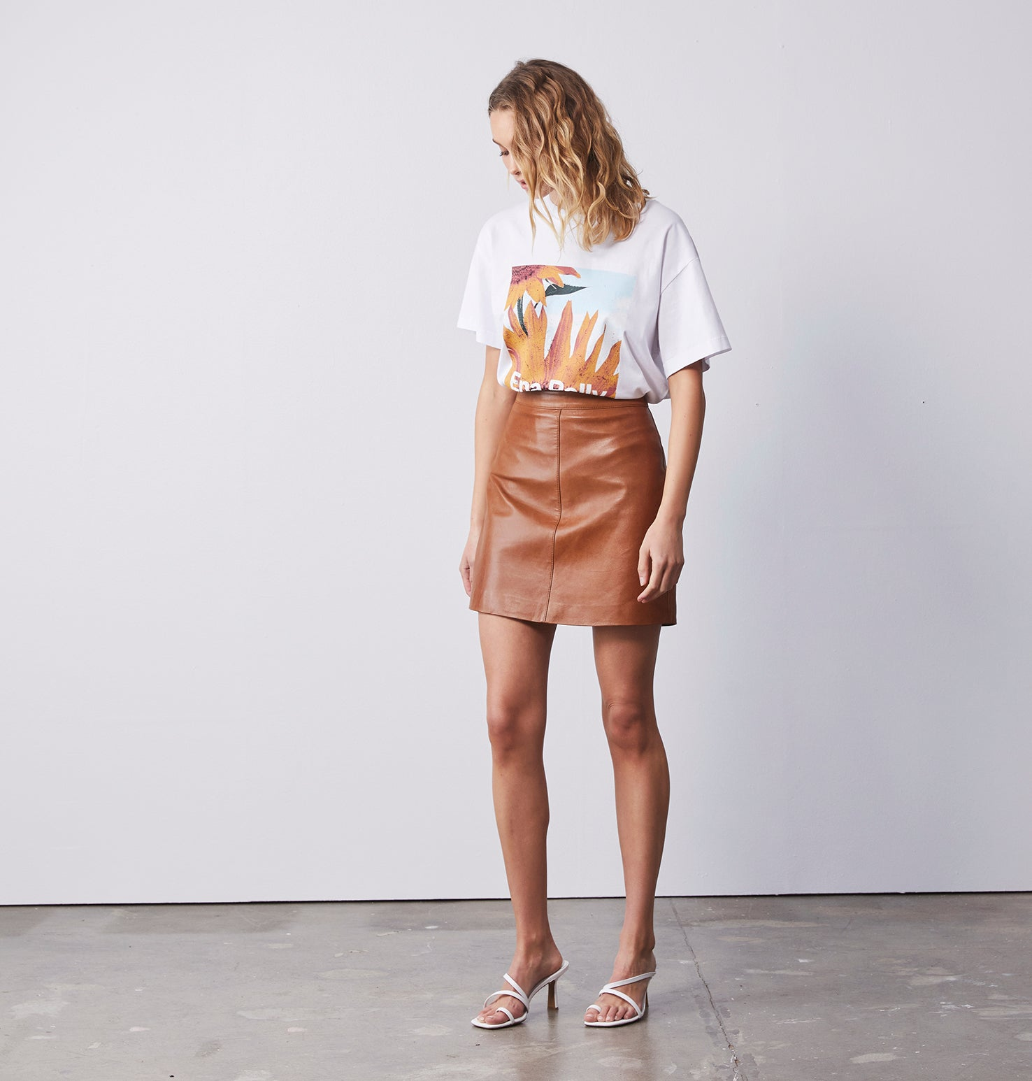 Classic Mini Skirt - Tan