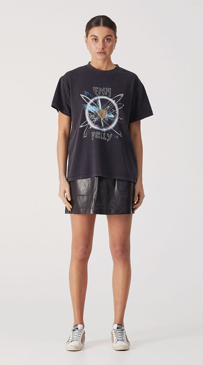 Mystic Graphic Tee - Washed Black