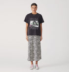 Snake Rose Tee - Washed Black