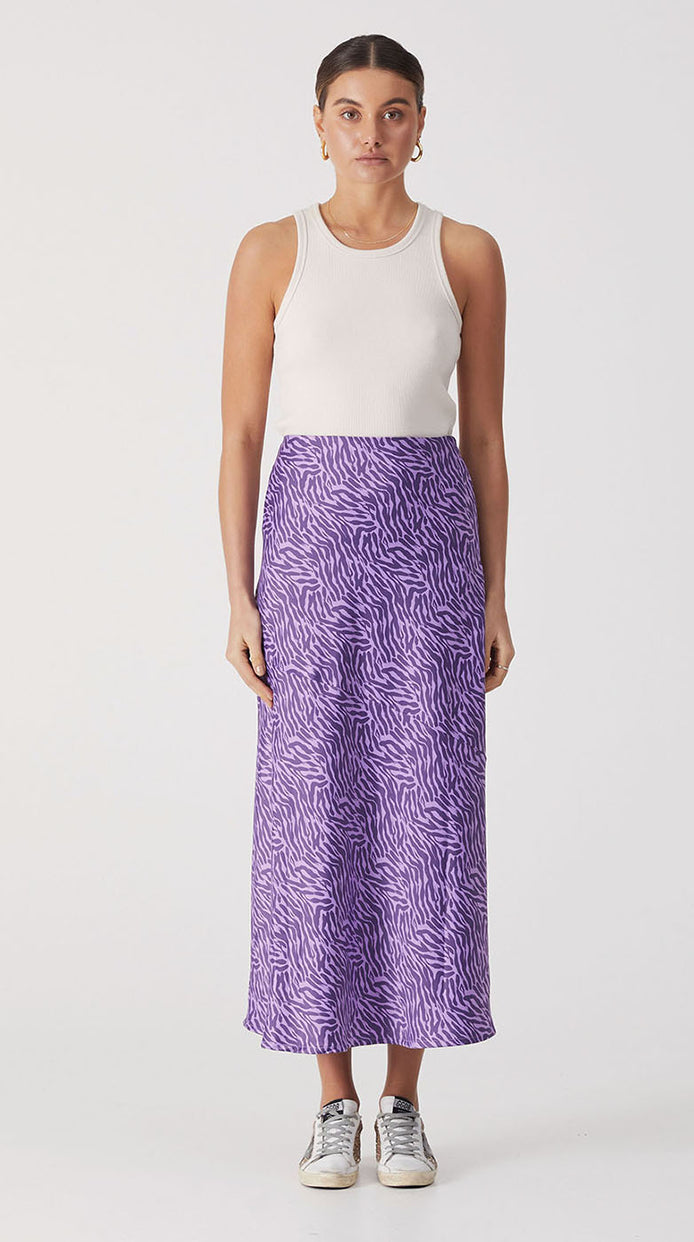 Roza Slip Skirt - Purple Mini Moonbeam