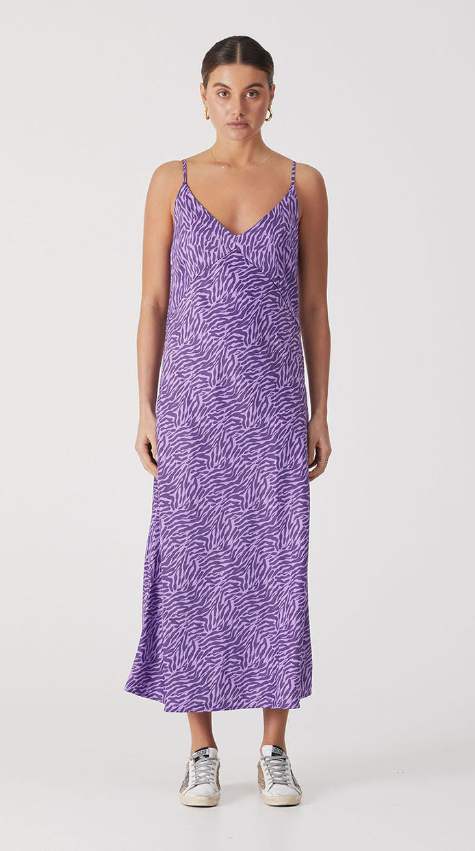 Roza Slip Dress - Purple Mini Moonbeam