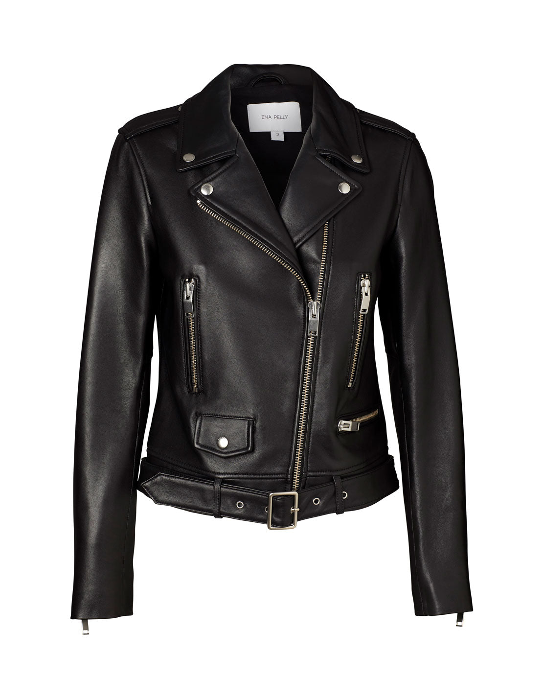 New Yorker Biker Jacket - Black/Silver