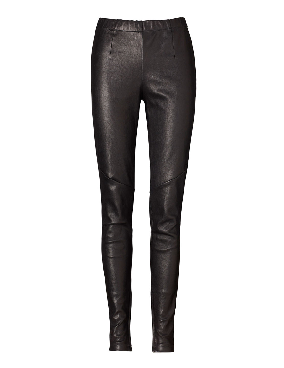 Minimalist Leather Leggings - Full Length