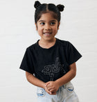 Kids - Block Logo Tee - Washed Black