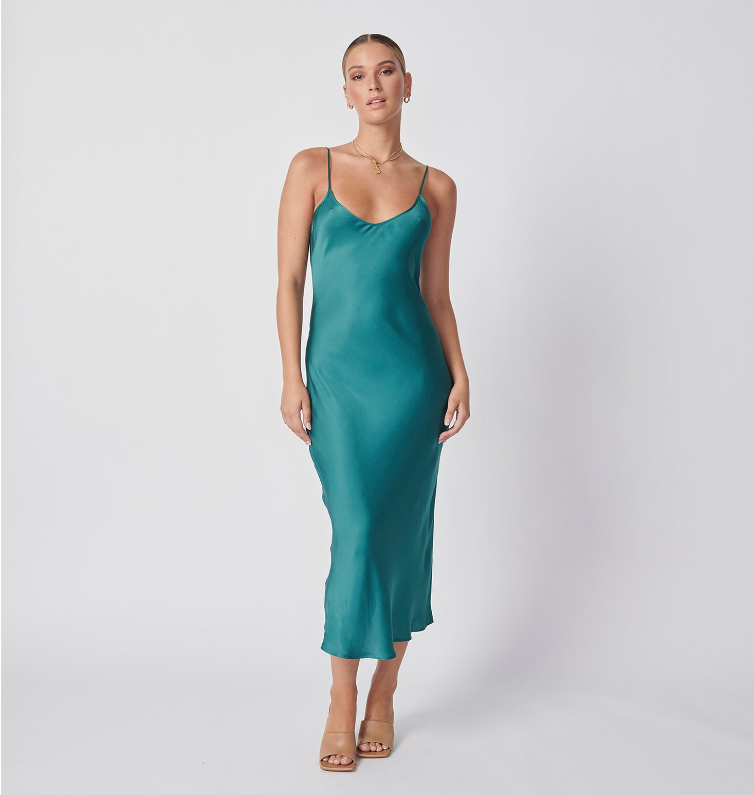 Slip Dress - Antique Green