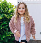 Kids - Essential Faux Fur Bomber Jacket - Rose