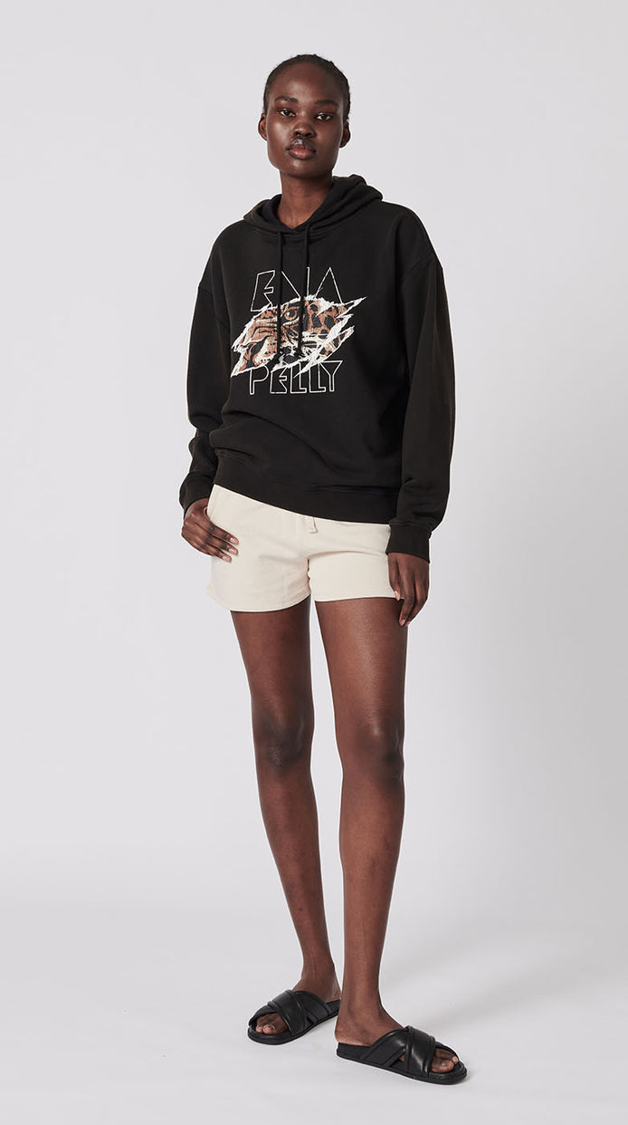 Tigers Eye Hoodie - Washed Black