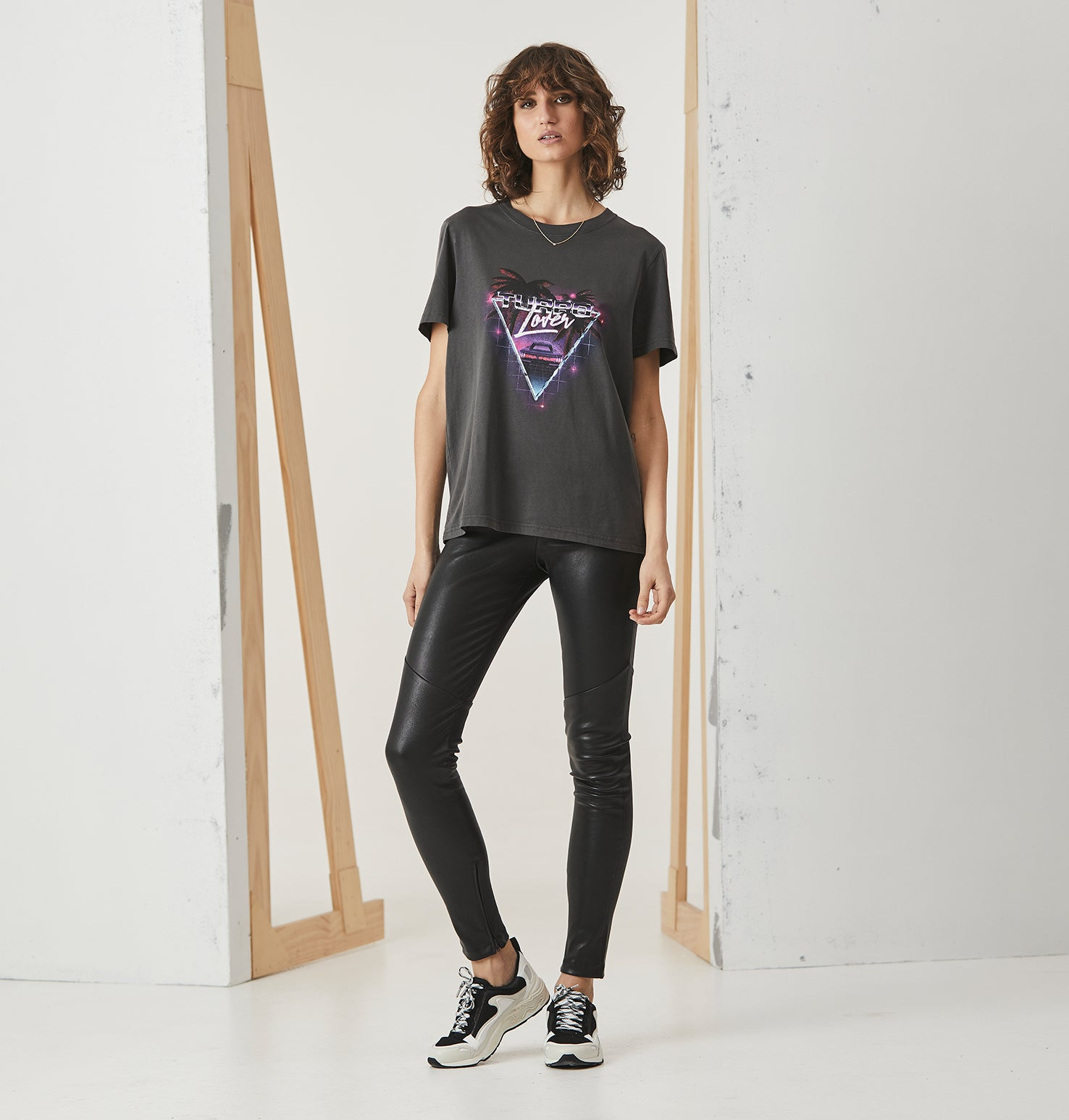Turbo Lover Tee - Faded Black