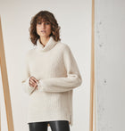 Classic Roll Neck Knit - Cream Twist