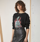 Graphic Sweatshirt - Skulls n Roses