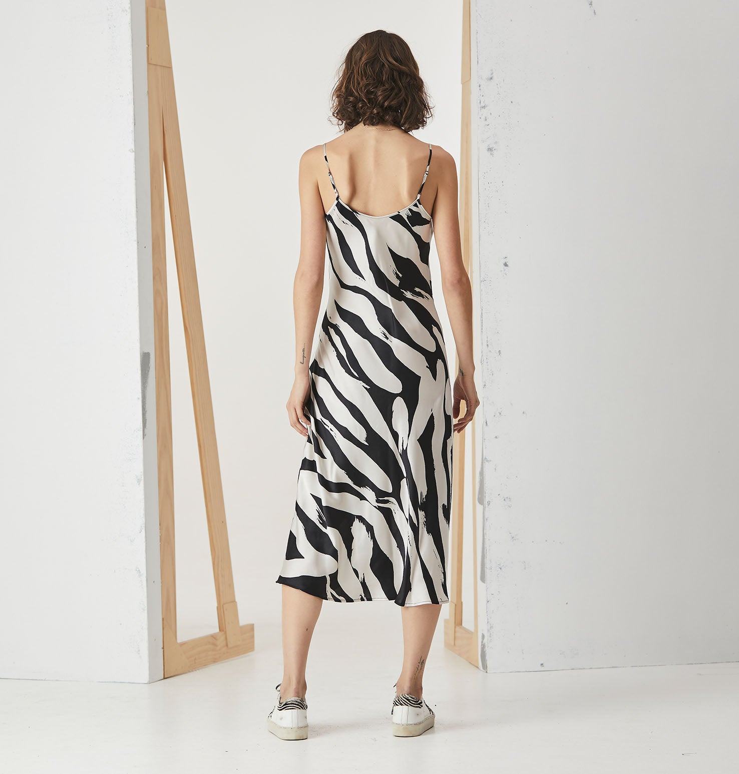 Slip Dress - Zebra